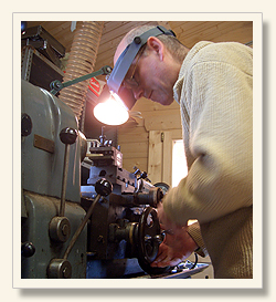 Martin Doyle at work on the lathe