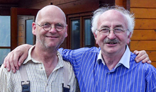 Martin Doyle with his good friend Cathal McConnell for whom Martin has made several flutes for over the years.