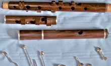Martin Doyle nine key flute ready to assemble.