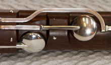 Finished key-work on the award winning Martin Doyle nine key flute – body and footjoint.